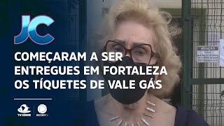 Começaram a ser entregues em Fortaleza os tíquetes de vale gás