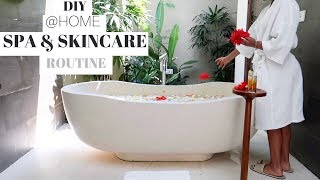 AT HOME DIY SPA & SKINCARE ROUTINE | South African Youtuber | AYANDA ZEBE