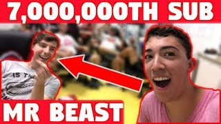 I WAS MR. BEAST'S 7,000,000th SUBSCRIBER AND WON 7,000,000 ___ ! (ft. MrBeast)