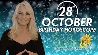 Birthday October 28th Horoscope Personality Zodiac Sign Scorpio Astrology