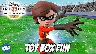 The Incredibles Disney Infinity 3.0 Toy Box Fun Gameplay with Mrs Incredible