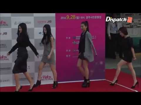 140930 2014 Hallyu Dream Festival   Red Velvet Red Carpet Cut by Dispatch