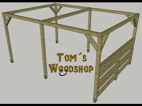 tom s woodshop pergola selber bauen teil 1 die fertigung. Black Bedroom Furniture Sets. Home Design Ideas