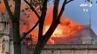 Notre-Dame de Paris : l'incendie vu des quais et de Belleville | AFP Images