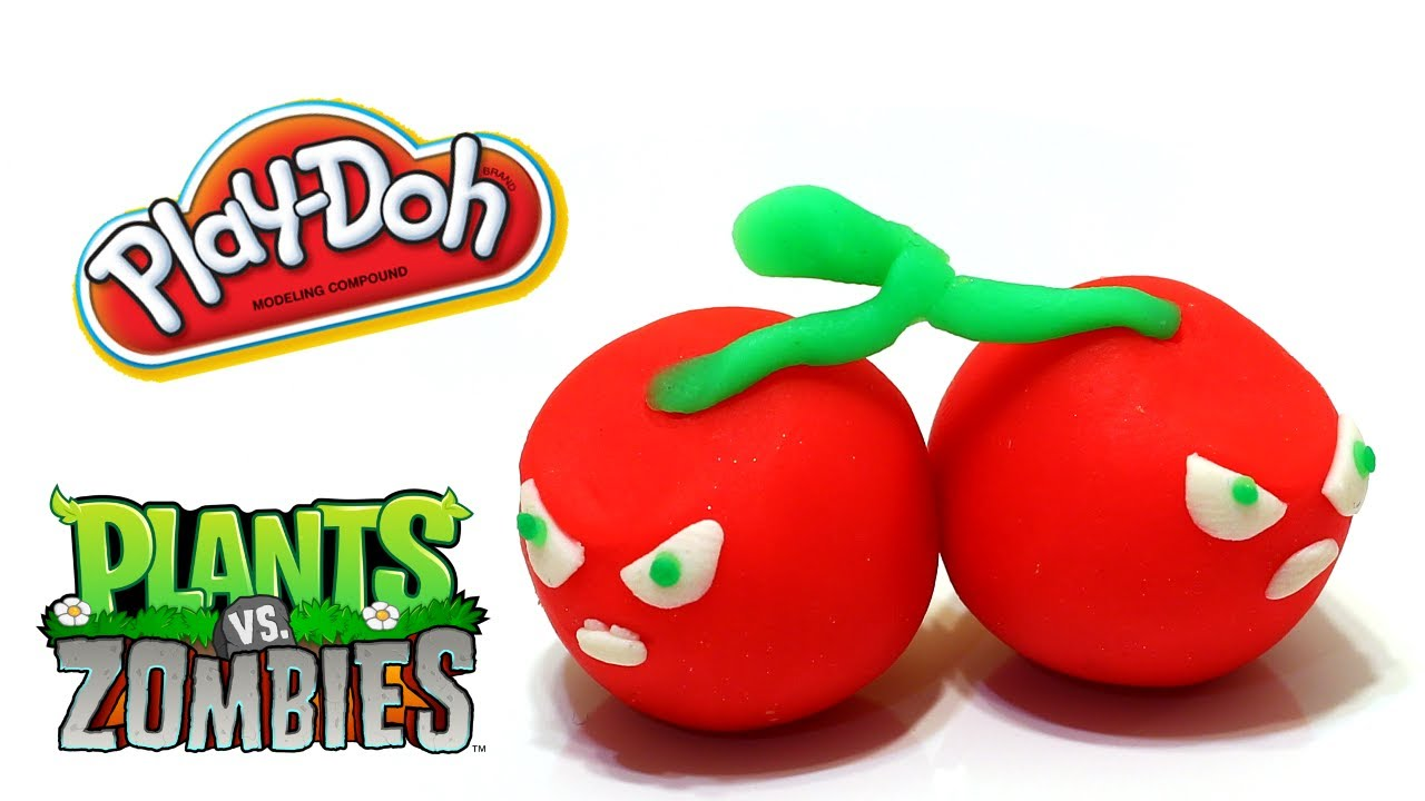 Play Doh Plants Vs Zombies Garden Warfare Cherry Bomb From