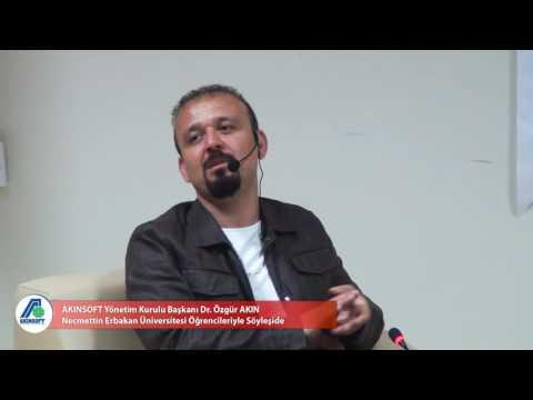 Dr. Özgür AKIN Necmettin Erbakan Üniversitesi Öğrencileriyle Söyleşide
