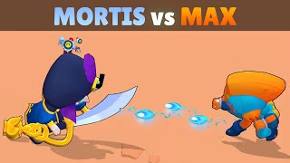 MORTIS vs MAX | 20 Tests | Fastest Brawler in Brawl Stars REMATCH!