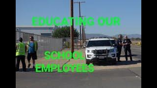 SCHOOL TRANSPORTATION DEPT. ( RUDE LADIES & SILLY COPS ) 1st Amendment audit