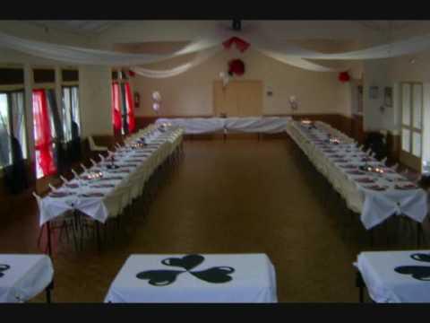 decoration de salle anniversaire rouge blanc noir pour une fille de 18 ans youtube. Black Bedroom Furniture Sets. Home Design Ideas