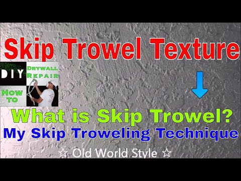 How To Apply A Skip Trowel Texture Youtube