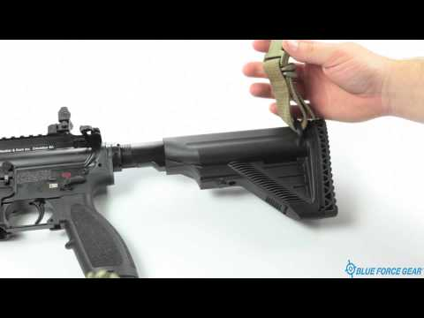 NSN Vickers Sling Attached to Buttstock of a HK M27 Option 2