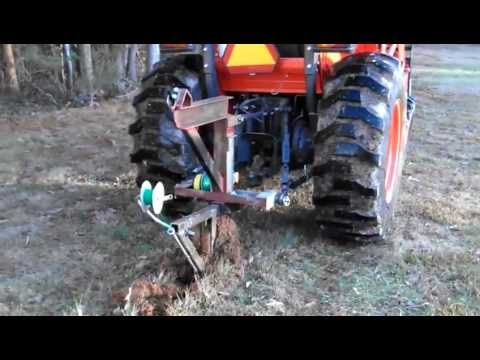Wire Burying With Homemade 3 Point Implement Youtube