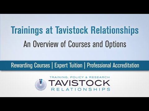 Tavistock Relationships - A Guide to Our Courses 2021