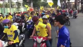 CĐV Thanh Hoá xuống đường 'đốt cháy' sân Gò Đậu