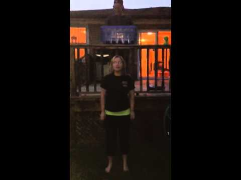 Patricia Lopes, from Blue Bins Unlimited, Participates in the ALS Ice Bucket Challenge