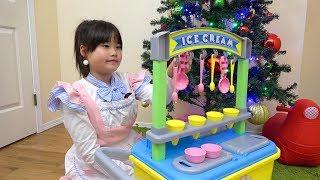 アイス屋さんごっこ お買い物ごっこ お店屋さんごっこ おゆうぎ こうくんねみちゃん ice cream shop