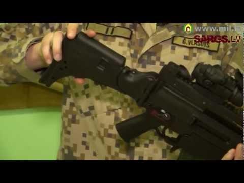 Latvijas karavīru apbruņojums - triecienšautene HK G36KV