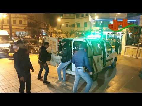 مع الأمن في ليلة بوناني بالقصر الكبير