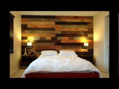 Pallet wood wall - YouTube