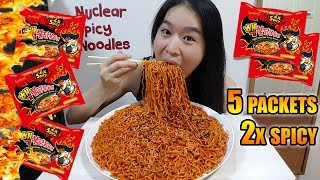 NUCLEAR FIRE NOODLES CHALLENGE • Mukbang •  Eating Show