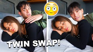 TWIN SWAP Prank To See If My Girlfriend Notices..