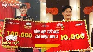 Thách thức danh hài 3 | tổng hợp các tiết mục 100 triệu mùa 3: cô gái khoe vàng và hot boy trà sữa
