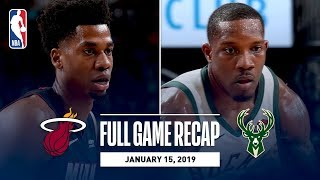 Full Game Recap: Heat vs Bucks | MIL Takes Care Of Business At Home