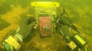 Found a Working iPhone Underwater in a Waterproof Bag! (Scuba Diving)