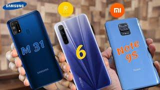 بعد التجربه تشتري مين فيهم ؟ والنتيجه غير متوقعه!! Xiaomi Redmi Note 9s Vs Realme 6 Vs Samsung M3