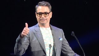 Robert Downey Jr. Accepts Disney Legends Award at Disney D23 Expo in Anaheim 2019