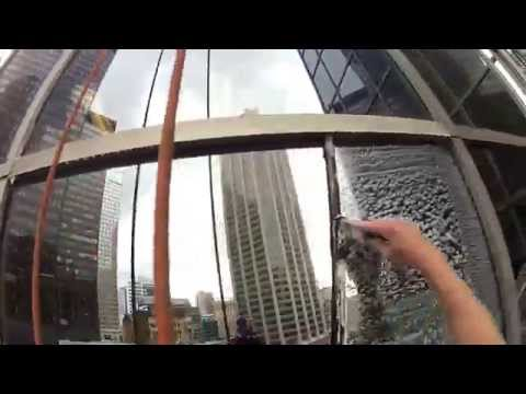 HIGH RISE WINDOW CLEANING ( Industrial rope access )May 2015