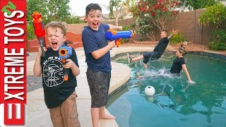 Sneak Attack Squad Has Fun Home Alone Nerf Action!