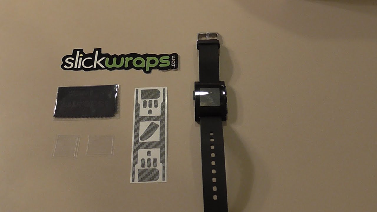 SlickWraps Carbon Fiber Wrap For Pebble! - Installation & Review - Smashpipe Tech