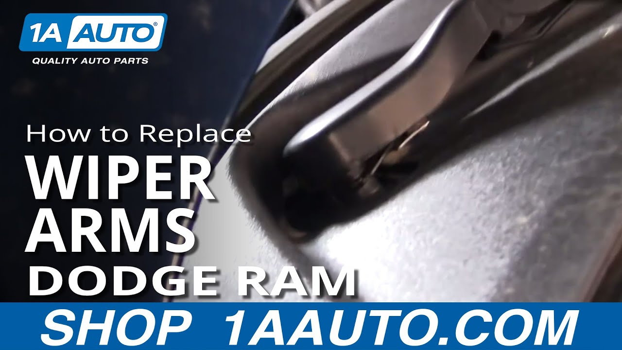 How To Install Repair Replace Broken Wiper Arm Dodge Ram