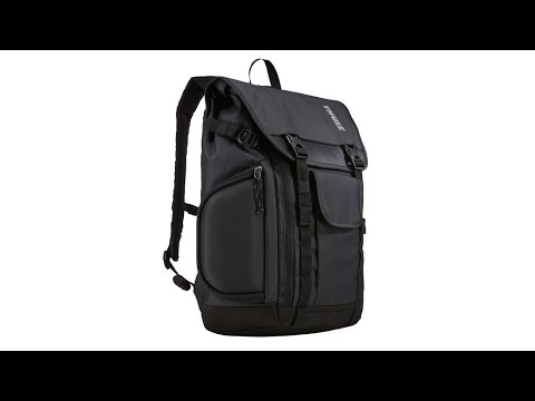 video Rucsac urban cu compartiment laptop Thule Subterra Daypack pentru MacBook Pro 15 si MacBook Pro 16 Dark Grey