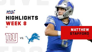 Matthew Stafford Roars w/ 342 Yds & 3 TDs! | NFL 2019 Highlights
