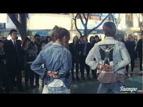 l2O329 SHINee (Taemin focus) dancing to $herlock in the streets of Hongdae fancam@Gu3r!lla l)at3