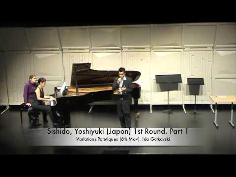 Sishido, Yoshiyuki (Japon) 1st Round. Part 1