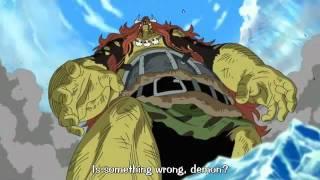 One Piece Kuma, Doflamingo and Moria vs Little Oars Jr
