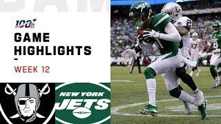 Raiders vs. Jets Week 12 Highlights | NFL 2019