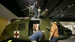 Vietnam War era Huey helicopter assemblage