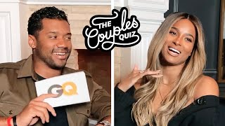 Ciara & Russell Wilson Ask Each Other 33 Questions | The Couples Quiz | GQ