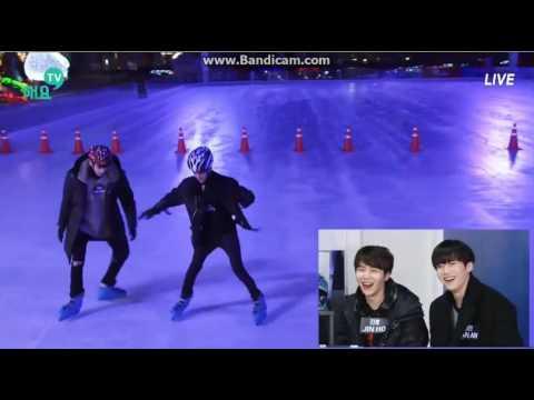 wooseok - yuto (milk couple) play ice-skating