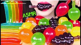 ASMR TikTok FRUIT JELLY, RAINBOW JELLY NOODLES 틱톡 과일 젤리, 무지개 젤리 국수 먹방 (EATING SOUNDS) NO TALKING