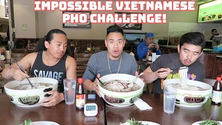 IMPOSSIBLE VIETNAMESE PHO CHALLENGE! 4LBS TURNED TO 6 LBS | PHO GARDEN