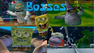 SpongeBob Battle for Bikini Bottom - All Bosses (No Damage) (1080p)