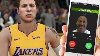 DJ Gets CALL From LAVAR BALL Before His LA Lakers DEBUT! NBA 2K18 My Career