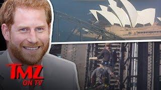 Prince Harry Scales Sydney Harbour Bridge!   TMZ TV