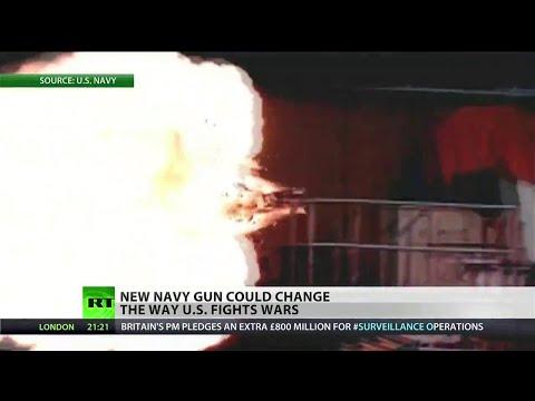 Navy unveils electromagnetic railgun