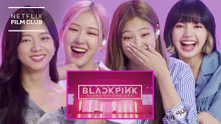 BLACKPINK Reacts To BLACKPINK: LIGHT UP THE SKY Official Trailer | Netflix